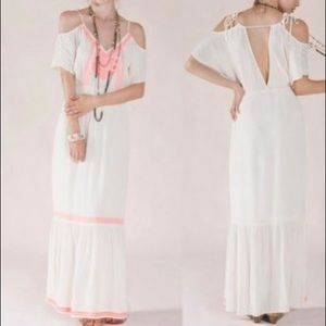 Flying Tomato neon Aztec print cold shoulder maxi